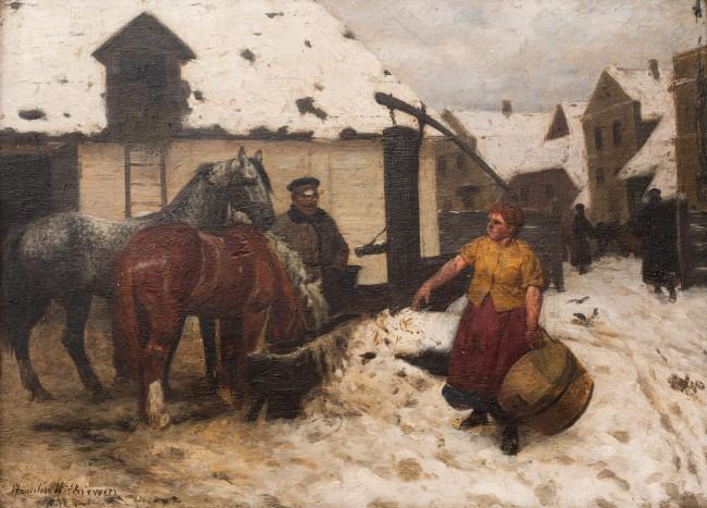 pojenie-koni-stanislaw-witkiewicz