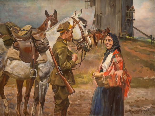spotkanie-przy-mlynie-1927-r-wojciech-kossak
