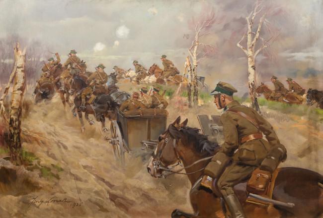 dzialon-artylerii-zajezdza-na-pozycje-1936-r-jerzy-kossak