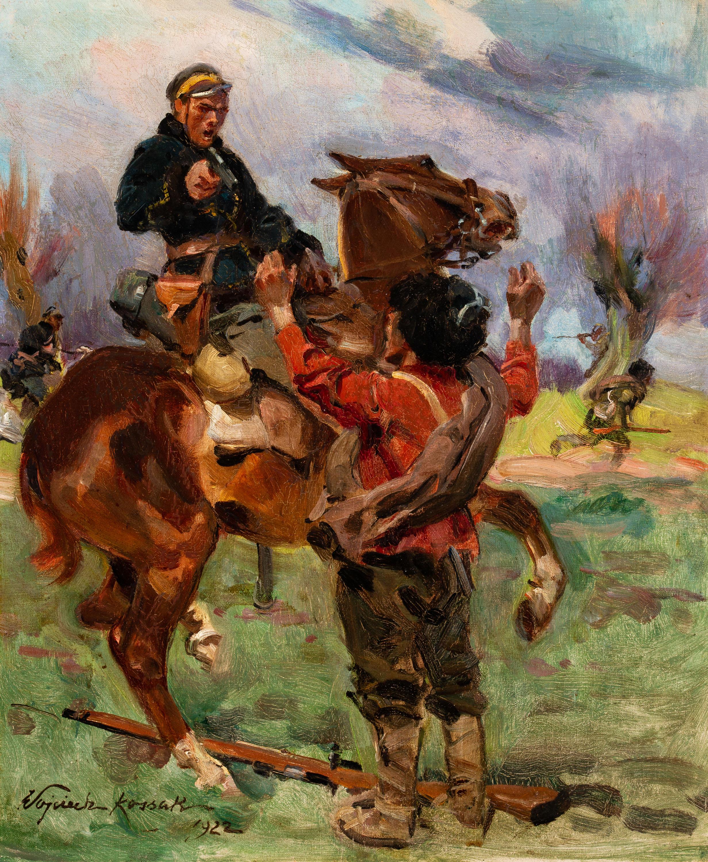 Wojciech Kossak   Epizod z wojny bolszewickiej, 1922 r.