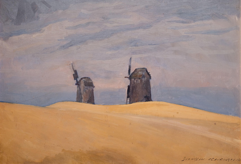 pejzaz-z-wiatrakami-1930-r-stanislaw-czajkowski