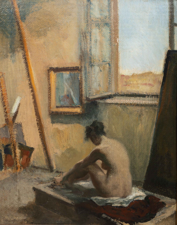 studium-aktu-we-wnetrzu-malarz-nieokreslony