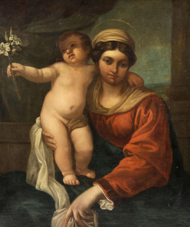 madonna-z-dzieciatkiem-z-lilia-mn-nasladowca-annibale-carracci-1560-1609