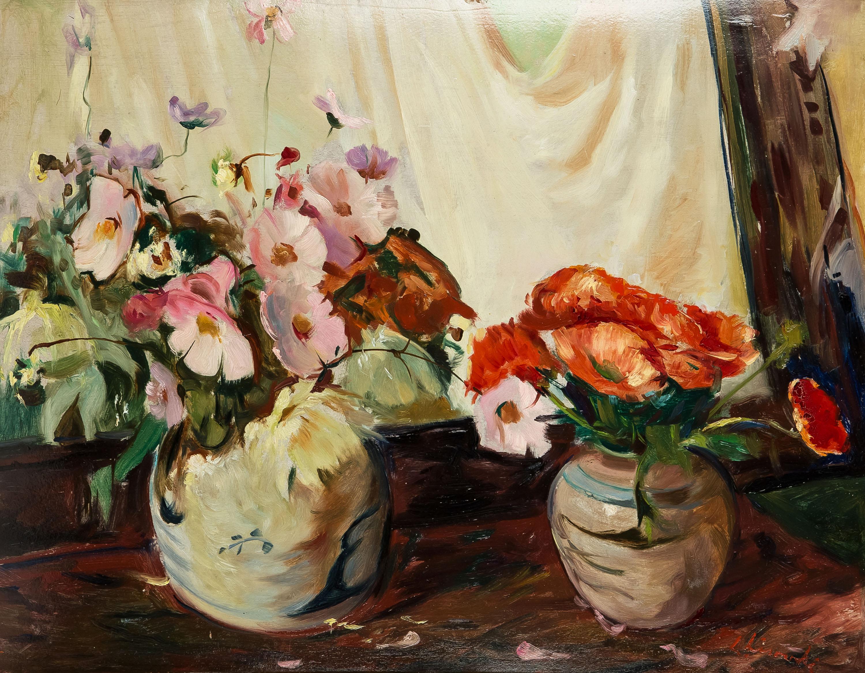 dwa-bukiety-kwiatow-ludwik-lisowski