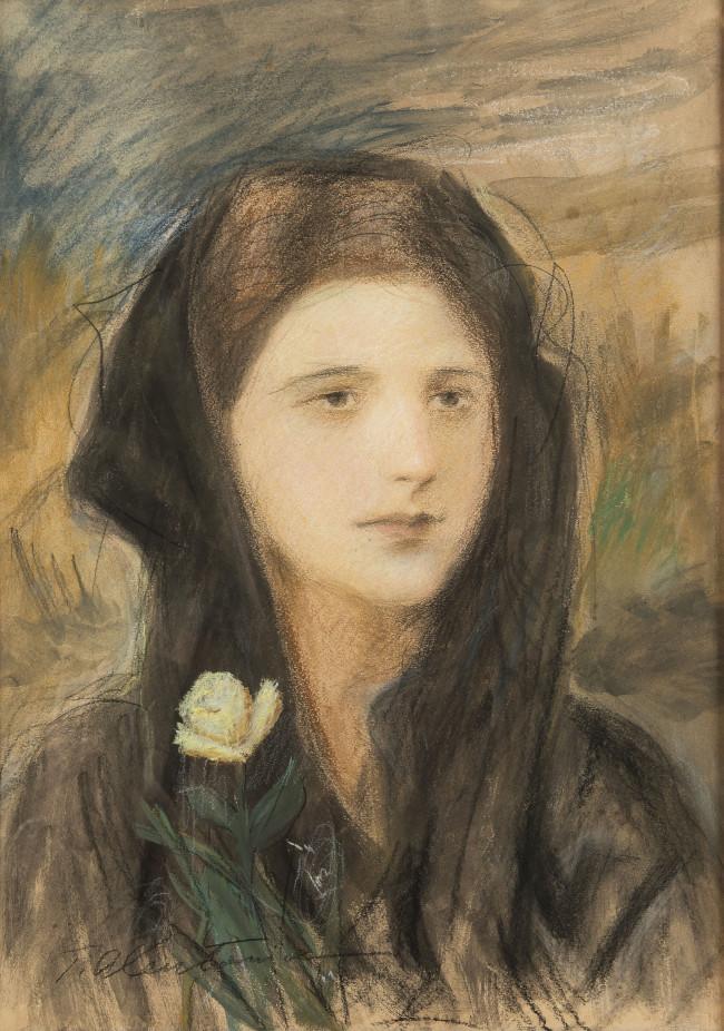 portret-mlodej-kobiety-teodor-axentowicz