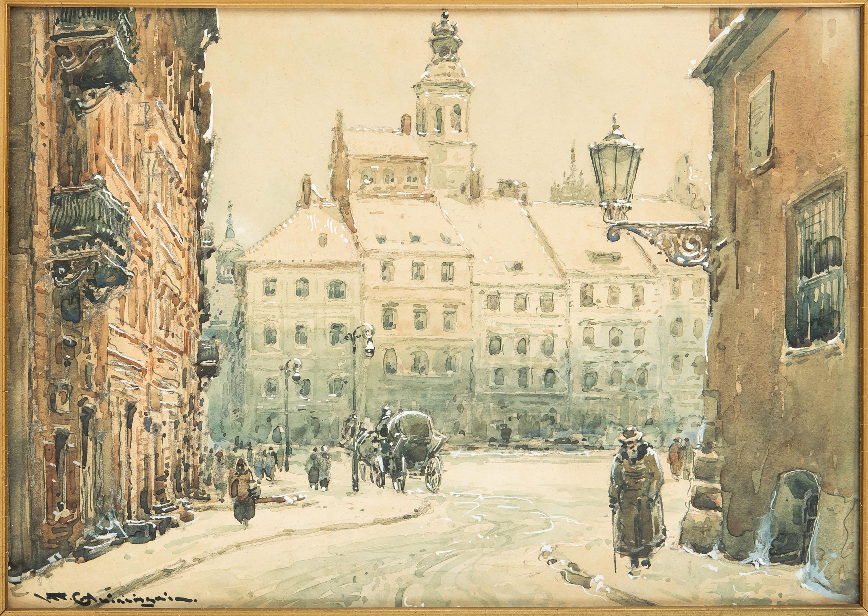 widok-na-rynek-starego-miasta-w-warszawie-wladyslaw-chmielinski