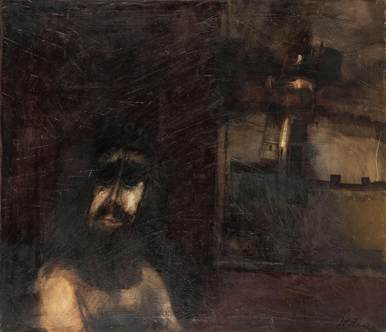 autoportret-z-wieza-w-tle-jerzy-kolacz