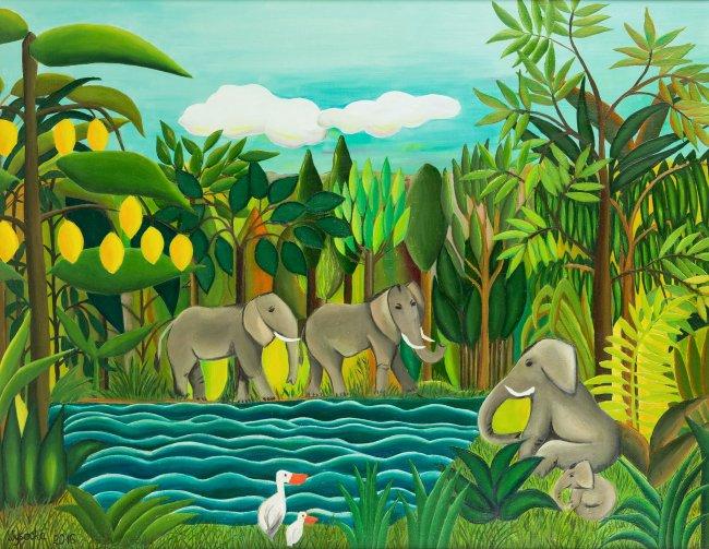 Katarzyna Wysocka | Zwierzęta u wodopoju, 2016