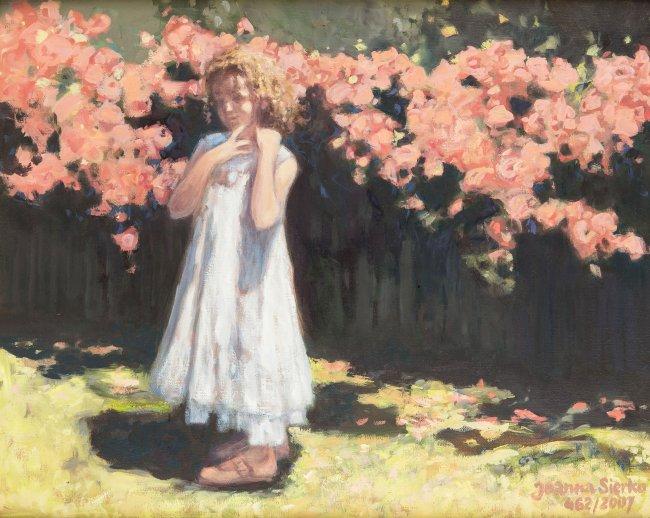 Joanna Sierko | Dziewczynka w ogrodzie, 2007 r.