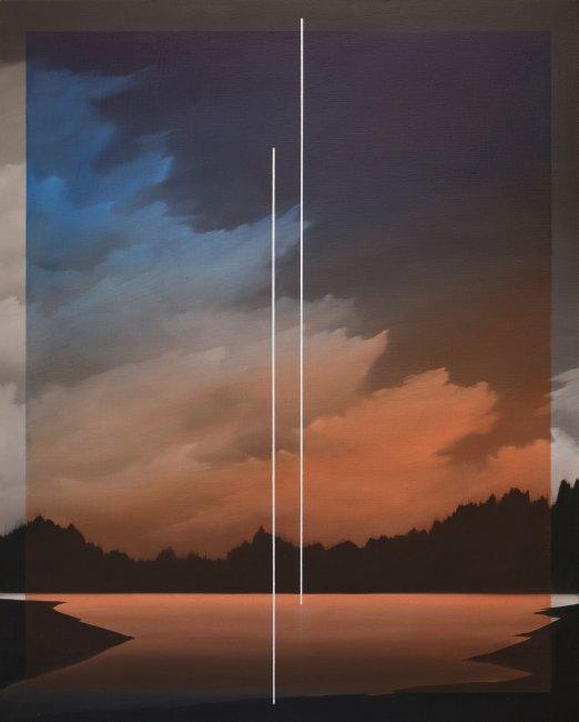 Łukasz Patelczyk   Blue and orange gradient glass, 2020