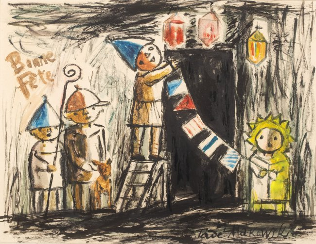 Tadeusz Makowski | Bonne fête, ok. 1931
