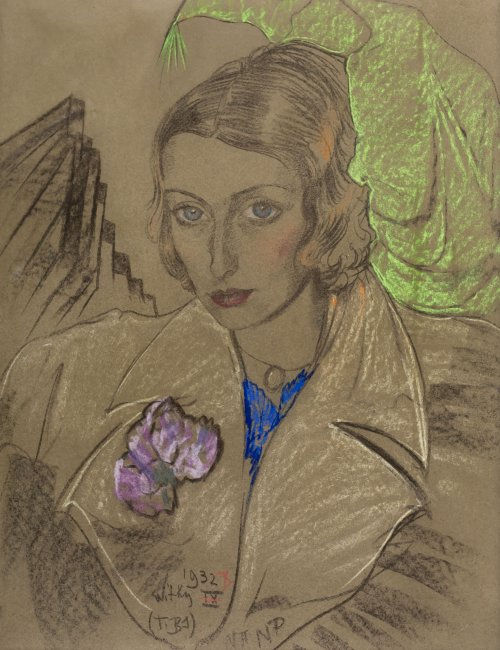 Stanisław Ignacy Witkiewicz | Portret Janiny Turowskiej-Leszczyńskiej, 1932