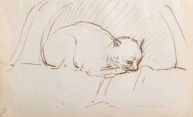 Jacek Malczewski | Śpiący kotek