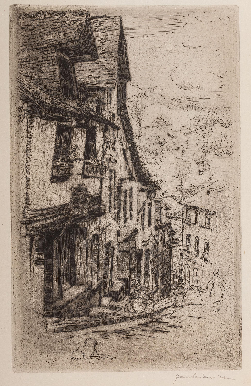 Józef Pankiewicz | Ulica Jerzual w Dinan z psem, 1906