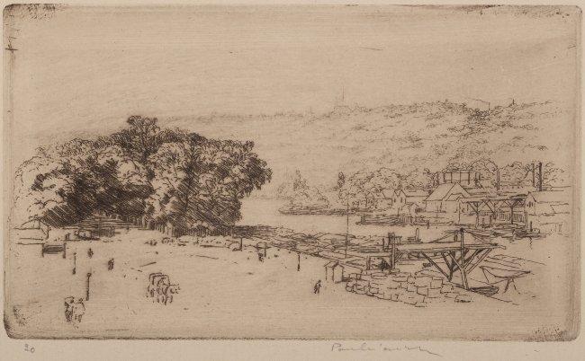 Józef Pankiewicz | La Cours-la-Reine, Rouen - Gondole w Wenecji (dwie kompozycje na jednym arkuszu), 1904