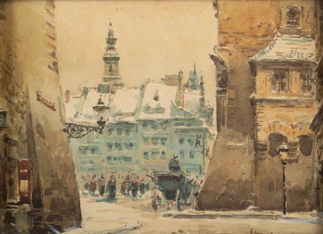 Władysław Chmieliński | Dorożka na starym mieście