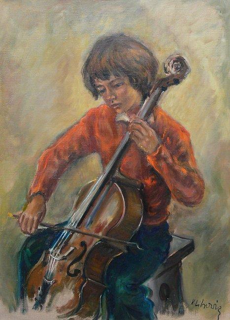 Katarzyna Librowicz | Chłopiec z wiolonczelą