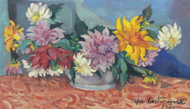Stefan Rostworowski | Martwa natura z kwiatami, 1971 r.