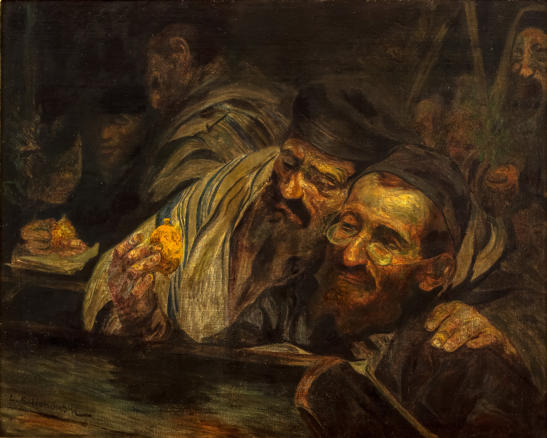 Leopold Pilichowski | Żydzi podczas Święta Namiotów (Sukot)