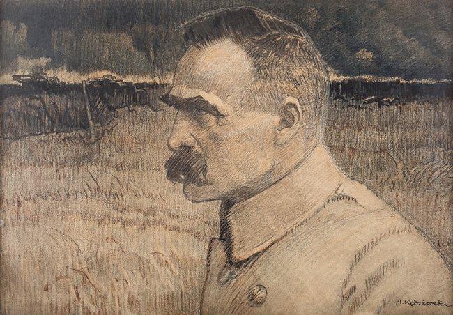Apoloniusz Kędzierski   Portret Naczelnego Wodza, Józefa Piłsudskiego, 1922 r.