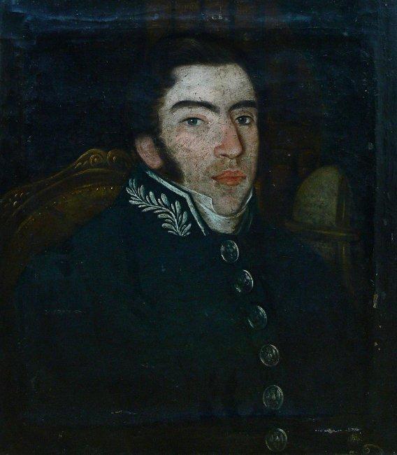 Julian Zawodziński   Portret Oficera Wojsk Królestwa Polskiego, 1830 r.