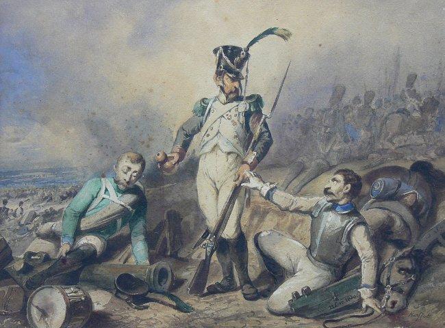 Auguste Raffet   Trzech wiarusów napoleońskich, 1850 r.