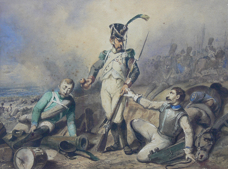 Auguste Raffet | Trzech wiarusów napoleońskich, 1850 r.