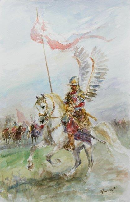 Zenon Aniszewski   Husarz na koniu, 2021 r.