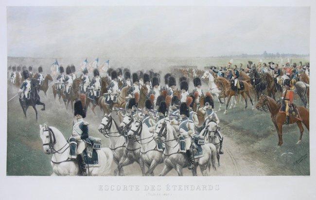 Jan Rosen   Eskorta sztandarów w Tylży, 1903 r.