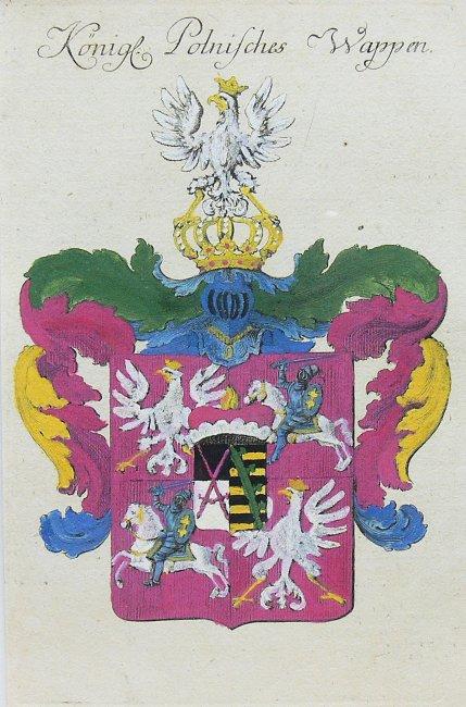 POLSKIE HERBY KRÓLEWSKIE, KONIEC XVIII W.