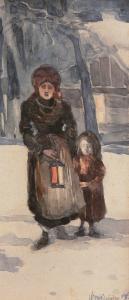 Matka z dzieckiem, 1902 r.