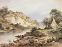 Nad rzeką, 1885 r.