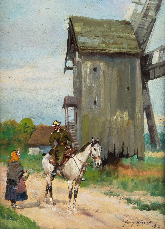 dziewczyna-i-ulan-1935-r-jerzy-kossak