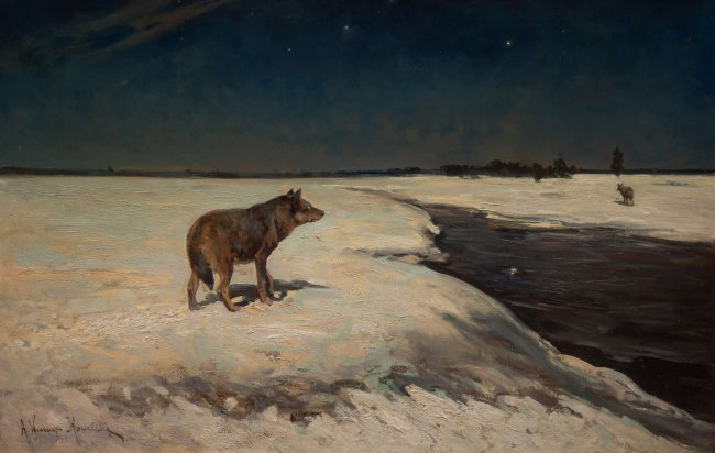 Alfred Wierusz-Kowalski | Wilki zimą