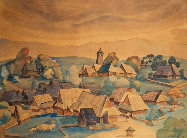 wioska-podhalanska-1930-r-wladyslaw-skoczylas
