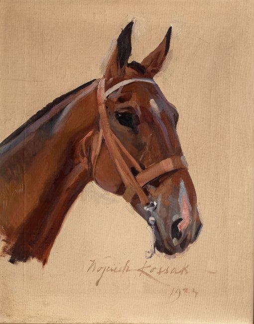 Wojciech Kossak | Głowa konia, 1924 r.