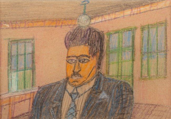 Nikifor Krynicki   Portret mężczyzny