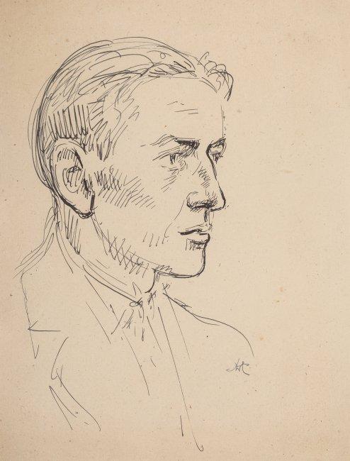 Wlastimil Hofman   Portret mężczyzny