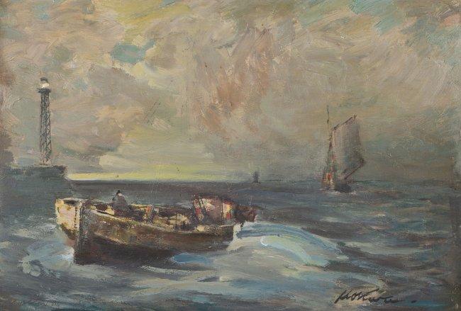 Marian Mokwa | Łodzie na morzu
