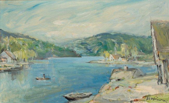 Marian Mokwa | Pejzaż z jeziorem