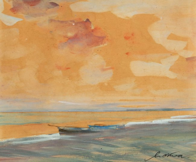 Marian Mokwa | Zachód słońca nad Bałtykiem