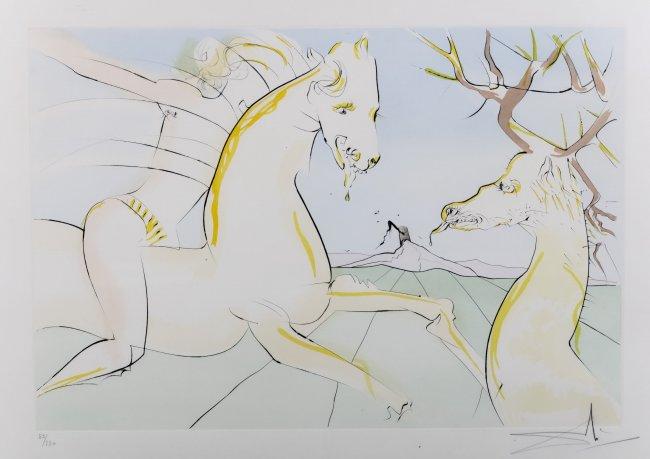 Salvador Dali   Jeździec i jeleń, z cyklu