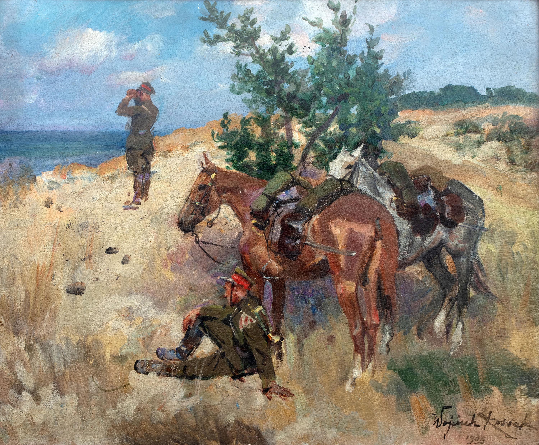 Wojciech Kossak   Patrol ułański