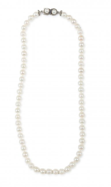 Naszyjnik z perłami,  XX w.
