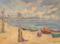 Plaża w Sopocie, 1962 r.