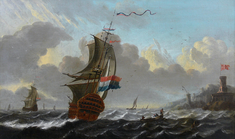 Aernout Smit | Holenderskie żaglowce przy duńskim nabrzeżu