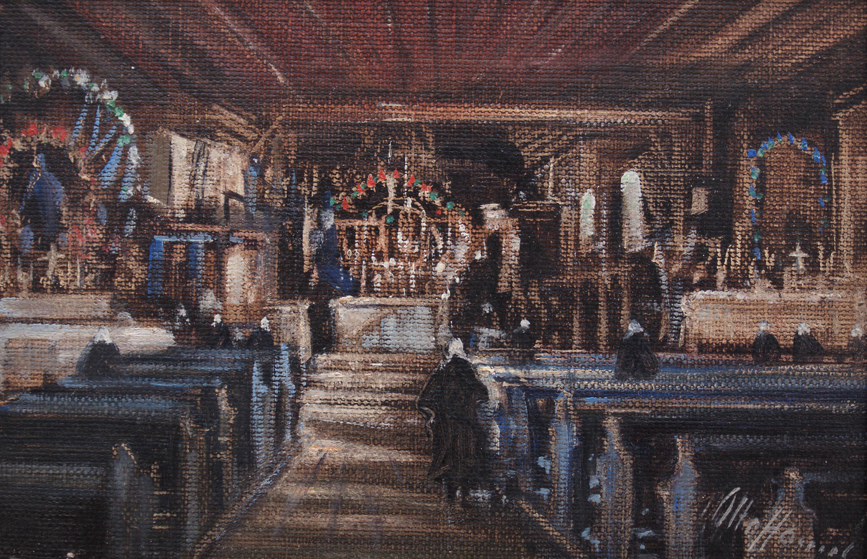 Otto Hamel | Wnętrze pomorskiego kościoła