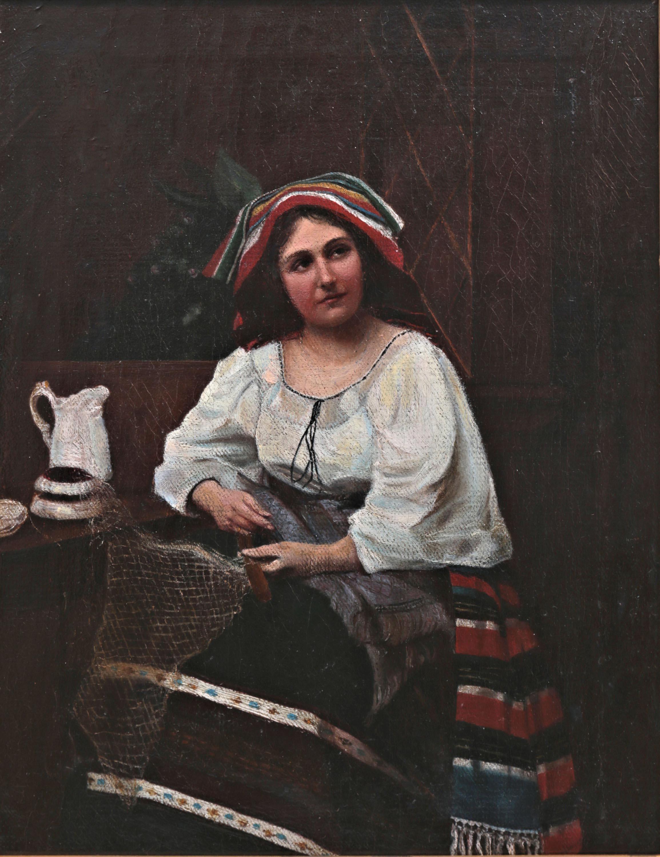 Hermann Effenberger | Młoda Włoszka przy kołowrotku, 1871 r.