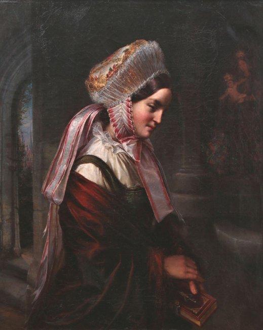 Louis Friedrich Sy | Portret młodej Warmiaczki, 1854 r.