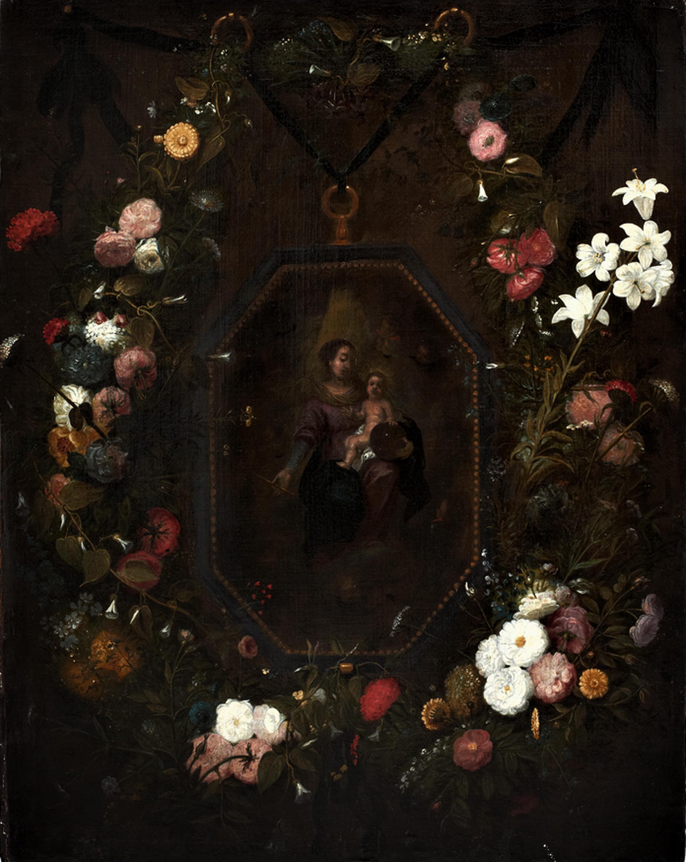 krąg Jana Brueghla Starszego | Madonna wśród kwiatów